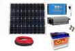 12V DC / 230V AC Fotovoltaický ostrovní systém 60Wp 60Ah