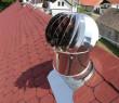 Ventilační turbína VIV 14/355, regul. klapka mech., průměr 355mm