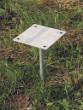 Ocelová patka pro solární sprchy 35l - Varianta: kamenité půdy