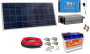 12V DC / 230V AC Fotovoltaický ostrovní systém 100Wp 60Ah