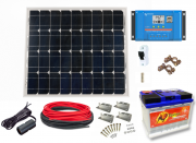 12V Fotovoltaický ostrovní systém 50Wp 60Ah
