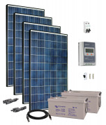 24V Fotovoltaický ostrovní systém 1120Wp (MPPT)