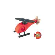 Dřevěná solární helikoptéra - červená