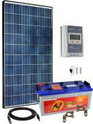12V Fotovoltaický ostrovní systém 285Wp (MPPT)