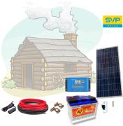 12V Fotovoltaický ostrovný systém 115Wp 80Ah