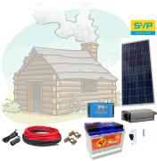 12V DC / 230V AC Fotovoltaický ostrovní systém 115Wp 80Ah