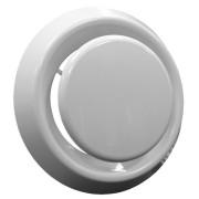 Ventil pro přívod/odvod vzduchu, zděř, upevňovací kroužek, průměr 100, 125mm