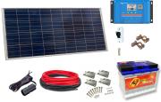 12V Fotovoltaický ostrovní systém 100Wp 60Ah