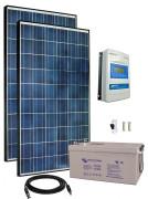 12V Fotovoltaický ostrovní systém 570Wp (MPPT)