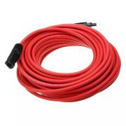 Predlžovací kábel, prierez 6 mm², červený