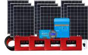 48V DC / 230V AC Fotovoltaický ostrovní systém 2520Wp (MPPT)