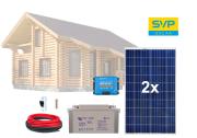 12V Fotovoltaický ostrovní systém 570Wp (MPPT Vitron Energy)