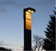 Solárna lampa SINGLE SOL-2M, smrekovec