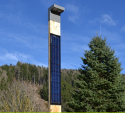 Solárna lampa SINGLE SOL-3M, smrekovec