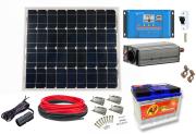 12V DC / 230V AC Fotovoltaický ostrovní systém 50Wp 60Ah