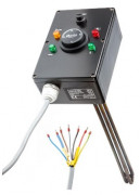 Topné těleso bez povrchové úpravy 3f s termostatickou hlavicí, typ L