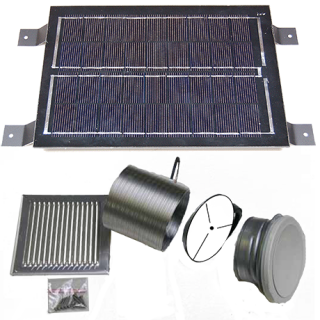SolarVenti odvetrávacia sada, 6 W panel
