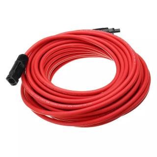 Predlžovací kábel, prierez 4 mm², červený