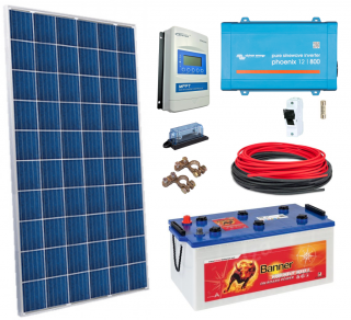 12V DC / 230 V AC Fotovoltaický ostrovní systém 285Wp (MPPT)