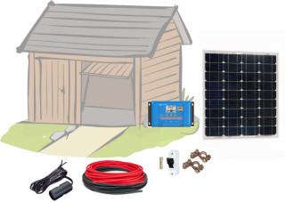 12V Fotovoltaický ostrovní systém 60Wp (bez baterie)