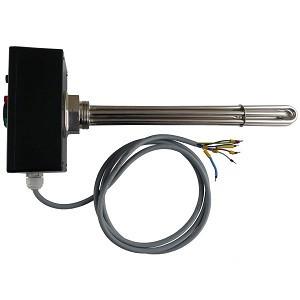 Vykurovacie teleso poniklovanej 1f alebo 3f s termostat. hlavicou, typ F (pre FVE)