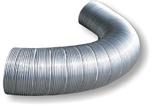 Al ohybné kruhové potrubie Semivac, dĺžka 1 m, priemer 125 mm