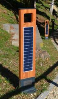 Solární lampa WOODLIGHT, zemní umístění aku