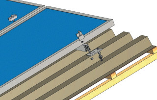 Nosná konštrukcia na šikmú strechu z lepenky, plechu