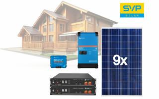 48V DC / 230V AC Fotovoltaický ostrovní systém 2565 Wp