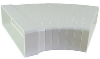 Oblouk 45° horizontální, s dělicími segmenty 60x200 mm