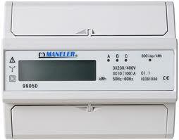 Elektroměr MANELER 9905D, přímé měření 10-100A, neověřený, LCD