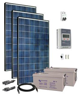 24V Fotovoltaický ostrovný systém 840Wp (MPPT)