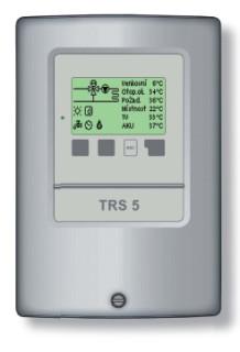 Regulátor TRS5 pro 1 otopný okruh a přípravu teplé vody
