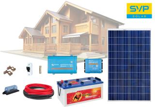 12V DC / 230 V AC Fotovoltaický ostrovný systém 285Wp (MPPT Victron Energy)